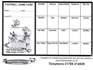 20 square football scratchcards