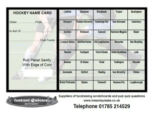 Hockey Fundraising Cards