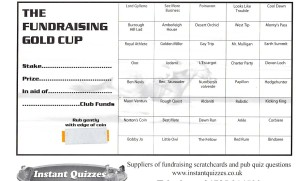Horse Racing Fundraising Scratchcards