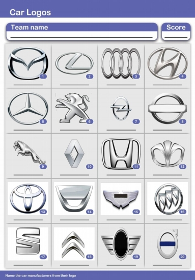Car Logos Picture Quiz