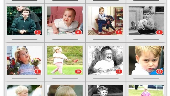 20-Picture Quiz of Royal Children
