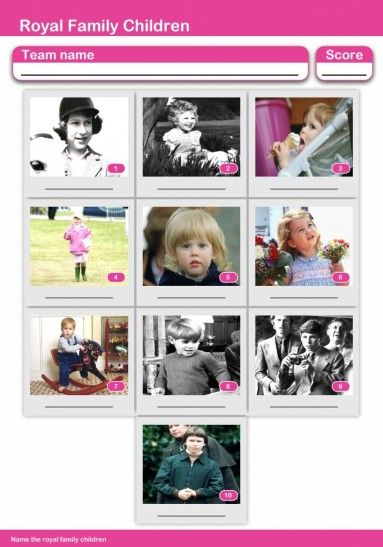 10-Picture Quiz of Royal Children