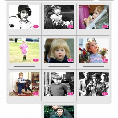 10-Picture Quiz of Royal Children