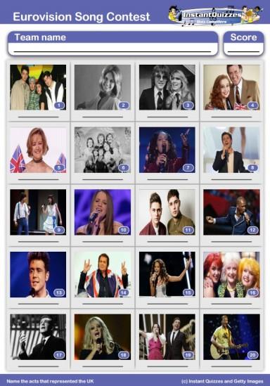 Eurovision Picture Quiz