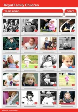 Royal Children Picture Quiz