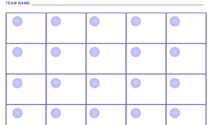 Bingo Quiz Answer Sheet